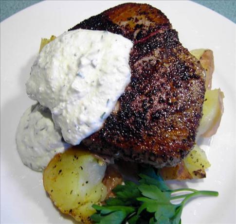 Salmon with tartarsauce
